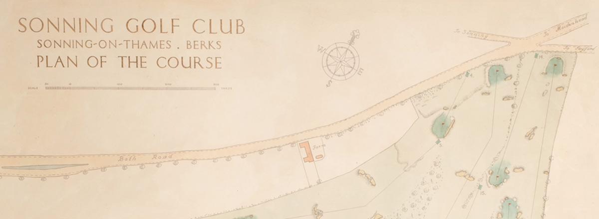 Original plan of Sonning golf course featured image